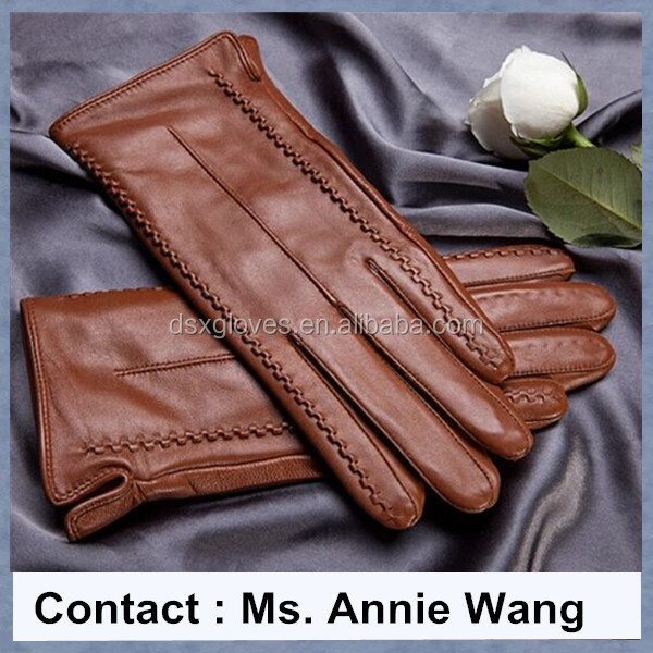 Cheap Deer Skin Leather Winter Gloves