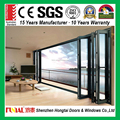 Safety glass door hardware aluminum folding bifold doors made in Shenzhen china manufacture