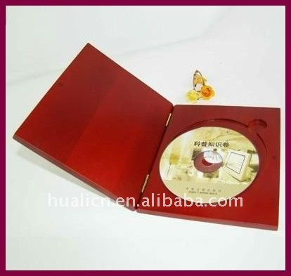 luxury solid wood single cd packaging box