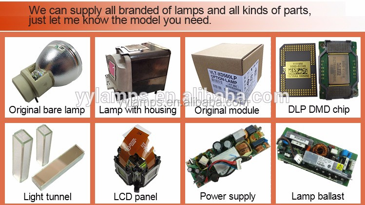 Original and quality projector VLT-XD600LP lamp for XD600/WD620