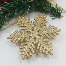 2016 hot sell high quality cheap popular custom gold plastic glitter snowflake