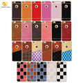 For iPhone 7 8 Bling Luxury Soft Slim Back Thin PU Leather Blank Mobile Squishy Phone Case