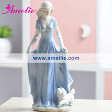 AT025 Blue Dress European Engrave Home Decoration Pieces Making