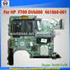 For HP Compaq F700 laptop motherboard, P/N: 461860-001