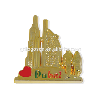 Golden Plating Dubai Souvenir Burj Al Arab Fridge Sticker Dubai Magnet Manufacturers