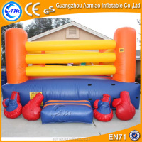 cheap inflatable wrestling ring for sale, inflatable boxing ring with gloves