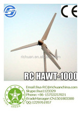 Richuan Hot selling Wind Turbines 1000w wind power magenetic generator Professional Pitch Controlled