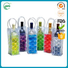 2016 HOT SALE pvc wine cooler bag, PVC plastic ice bag with high quality