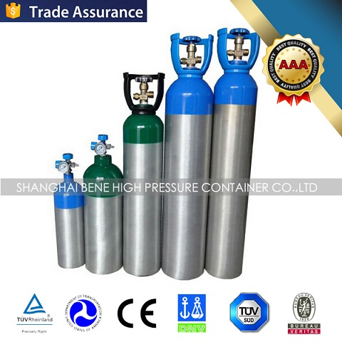 2017 Small Aluminum portable ambulance medical oxygen cylinder