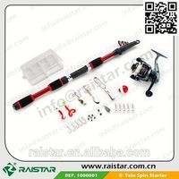 New arrival popular desige and Telescopic fishing rod set with fishing with electric shock