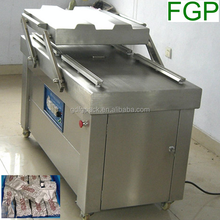 DZ-500/2SB Soya beans melt peanuts double chamber vacuum packing machine for frozen meat