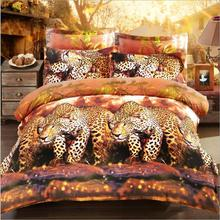 3d Lion Printing Bedding Sheet 3d Bedding Set with polyester fabric