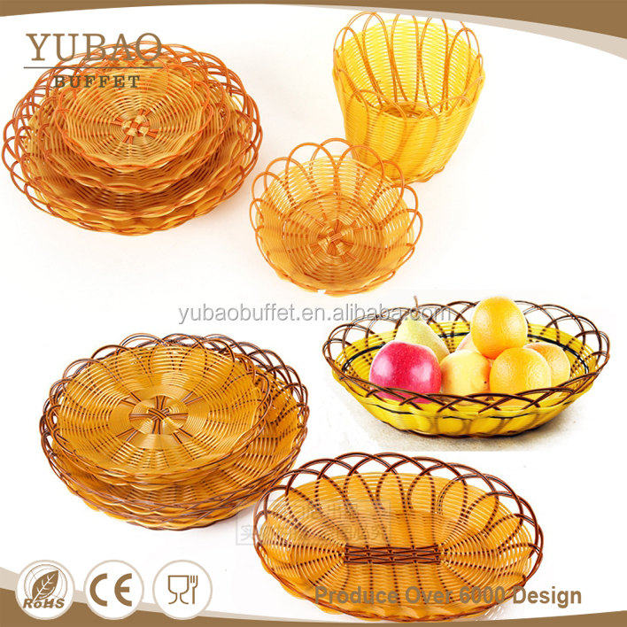 Restaurant plastic wicker storage wholesale french pastry bread moroccan baskets