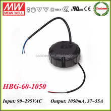 Meanwell HBG-60-1050 60w round shape constant current led driver