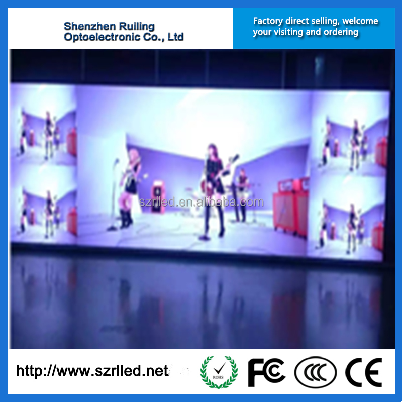 Ruiling mutil-color P4 smd led display board/led video wall screen