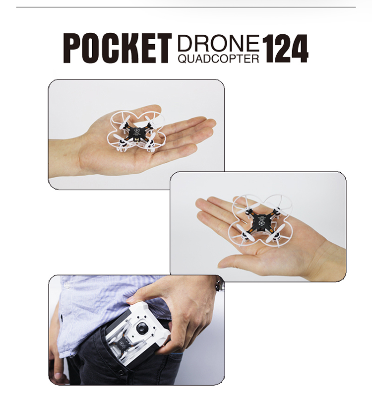 Best selling product Sbego 124 2.4G 6 Axis Gyro High Quality Mini RC Pocket Toy Drone with headless mode for kids vs fq777