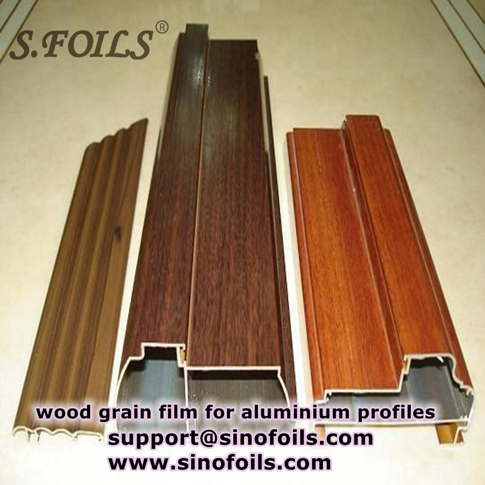 china wood grain sublimation transfer film for aluminum extruded profile