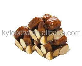 Good with flat white and long black, Crispy almond nut bar candy