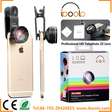 60mm professional HD 2X telephoto lens for iphone with universal detachable clip