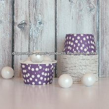PURPLE POLKA DOTS CANDY CUPS Baking Cups, Nut Cups, Portion Cups cupcake liners Greaseproof Cupcake/Muffin Baking