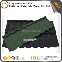 New construction finishing materials Chinese factory price color stone coated metal roofing sheets best quality slate roof tile