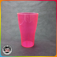 Pink Plastic Pint Drinking Glasses Party Using Cups