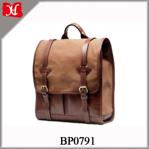 Mens Vintage Canvas Leather Backpack University School Bag Multipurpose Daypacks Bag