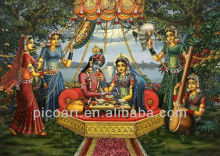 Customize high quality Indian Religion God Type Radha Krishna Oil Paintings