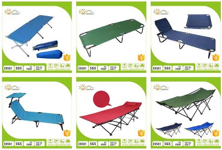 High quality extended foldable army folding bed