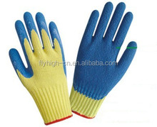 rubber coated cotton glove industrial rubber glove customized