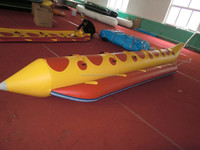 Single PVC inflatable funny and fatastic banana boat for sale