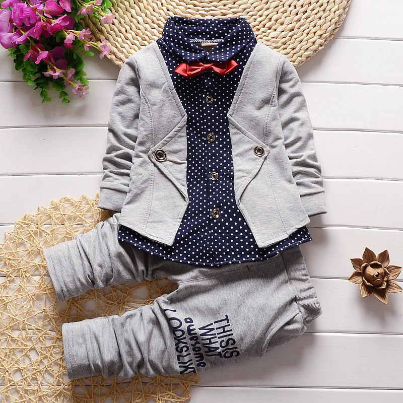 BibiCola Spring autumn children clothing set new fashion baby boys shirt clothes sport suit kids boys outfits suit
