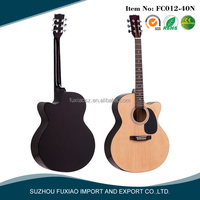 China cheap cutway spruce steel string acoustic guitar