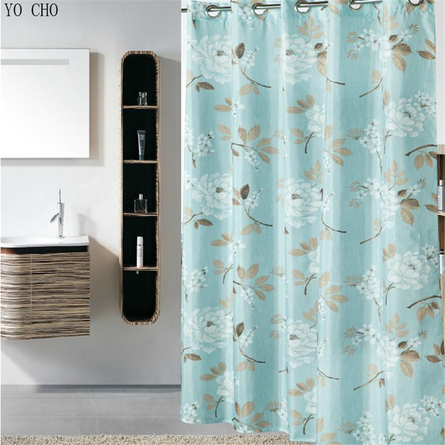 boda docoration casa docor bao cortina de tela diseo flores impreso artculos para el hogar
