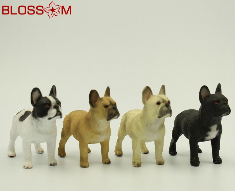 Deft Design Resin Dog Statues Lifelike Mini Standing French Bulldog Giftware