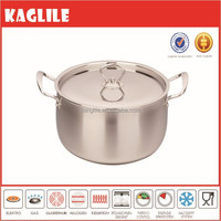 Wholesale multi size miror polish silver stainless steel sauce pot casserole with tempered lid