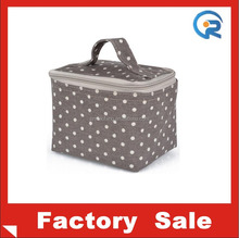 Eco friendly cotton with inside epe foam Insulated printed canvas cooler bag
