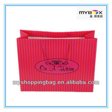 Customized High Quality Stripe Shopping Bag for Retail