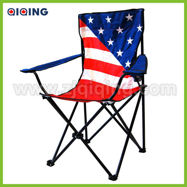 American Flag Chair With Cupholders HQ 1004B