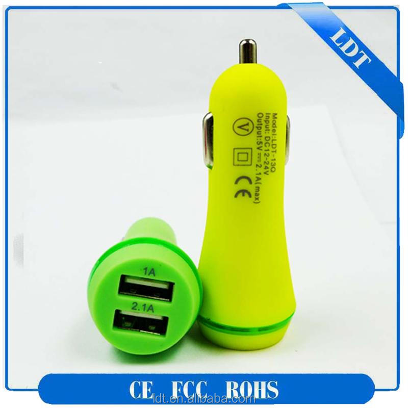 Shenzhen 5V 2.1A car charger private label phone accessories