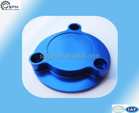 billet clamps anodized blue aluminum cover cap of cnc machining parts