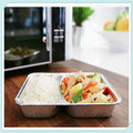 Rectangle aluminum foil container aluminum foil lunch box eco-friendly aluminum foil lunch box fast food box free sample welcome