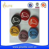 Custom cheap car button badge with printed car logo for promotion