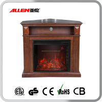 Decorative 3 sided corner electric fireplace