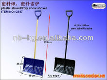 new style! plastic snow shovel with long handle (G817)