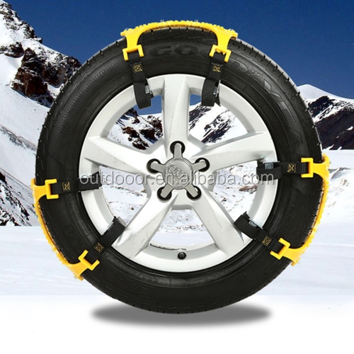 Wholesale Hot selling Winter Tyre Chains Car Accessories 6 PCS Car Snow tyre Anti-skid Chains White Chains For Family Car