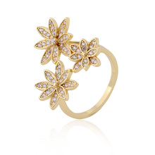 Latest Brass Plating 18k Gold Ring Jewelry Designs Women Rings