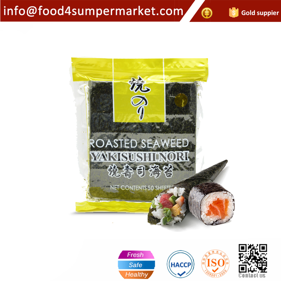 50 pieces roasted seaweed sushi nori sheets with OEM