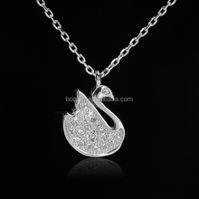 special design short production cycle white zircon 925 italy silver necklaces for party