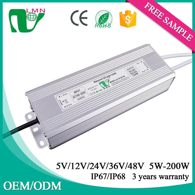 CE & RoHS Certifications 150w led power supply/led street light driver/Waterproof led driver